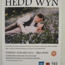 Hysbys noson ffilm Hedd Wyn